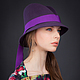 Шляпы ручной работы. Ярмарка Мастеров - ручная работа. Купить Шляпа Nova из фетра. Handmade. Фиолетовый, шляпа с полями, аксессуары