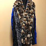 Аксессуары handmade. Livemaster - original item Chinchilla rabbit scarf. Handmade.