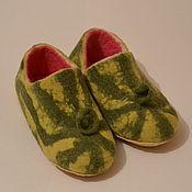 Обувь ручной работы. Ярмарка Мастеров - ручная работа Тапочки валяные - Арбузные корочки. Handmade.