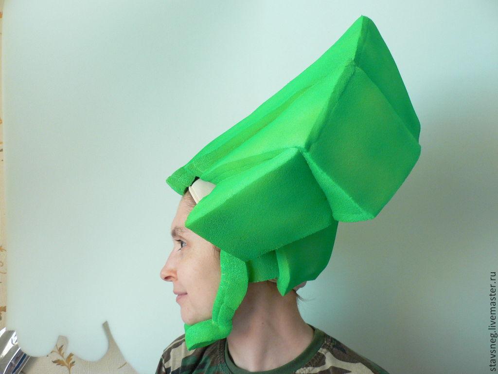 Купить Шапочка-парик для костюма фиксика Папуса - ярко-зелёный, папус, фиксики, костюм, парик