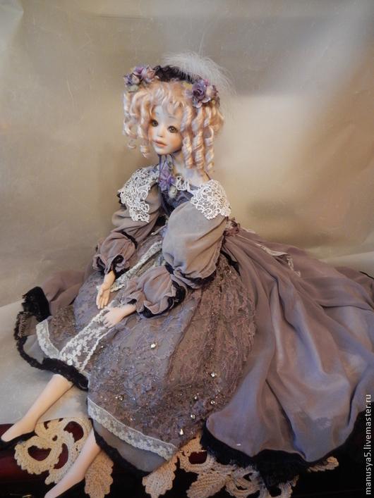 """Коллекционные куклы ручной работы. Ярмарка Мастеров - ручная работа. Купить Кукла """"Эльза"""". Handmade. Серый, бисер"""