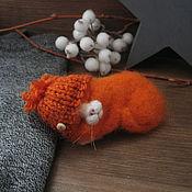 Украшения ручной работы. Ярмарка Мастеров - ручная работа Рыжее настроение.  Рыжий кот. Брошь. Handmade.