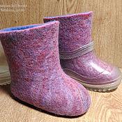Обувь ручной работы. Ярмарка Мастеров - ручная работа Розовые облака детские валенки 14см. Handmade.