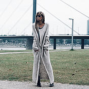 Одежда handmade. Livemaster - original item Light gray cardigan long. Handmade.