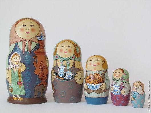 """Матрешки ручной работы. Ярмарка Мастеров - ручная работа. Купить Матрешка """"Чай с молоком"""". Handmade. Сувениры и подарки, самовар, нежный"""