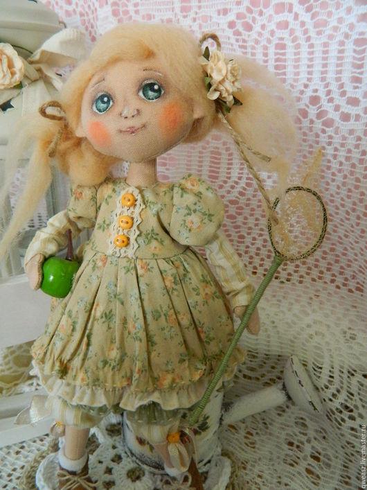 Коллекционные куклы ручной работы. Ярмарка Мастеров - ручная работа. Купить Текстильная авторская кукла. Handmade. Бежевый, кукла текстильная