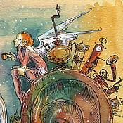 """Картины и панно ручной работы. Ярмарка Мастеров - ручная работа """"Путешествие навстречу мечте"""". Handmade."""