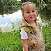 Работы для детей, handmade. Livemaster - original item Felted baby vest
