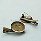 Другие виды рукоделия ручной работы. Ярмарка Мастеров - ручная работа. Купить Ф009 Основа для броши/заколки бронза 4,8/2,8 см. Handmade.