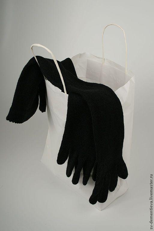 Mittens & Gloves handmade. Livemaster - handmade. Buy Gloves women knitted long Aristocrat.Gloves, winter, 100% wool