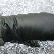 Аксессуары ручной работы. Ярмарка Мастеров - ручная работа варежки черные кожанные. Handmade.