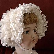 Куклы и игрушки ручной работы. Ярмарка Мастеров - ручная работа Боннет для антикварной куклы.. Handmade.