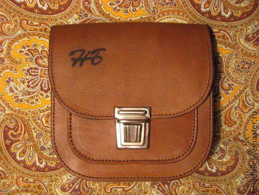 Мужские сумки ручной работы. Ярмарка Мастеров - ручная работа. Купить Сумка мужская, поясная, из натуральной коричневой кожи. Handmade.