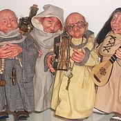Куклы и игрушки ручной работы. Ярмарка Мастеров - ручная работа Монахи-коротышки  Четыре капуцина.. Handmade.