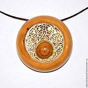 Украшения handmade. Livemaster - original item Wooden pendant Aromacology natural wood Irga C32. Handmade.