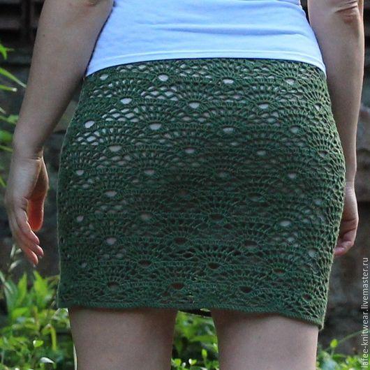 Юбки ручной работы. Ярмарка Мастеров - ручная работа. Купить Юбка Фелиси. Handmade. Тёмно-зелёный, зеленая юбка