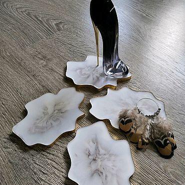 Дизайн и реклама ручной работы. Ярмарка Мастеров - ручная работа Подставки из эпоксидной смолы. Handmade.