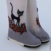 """Обувь ручной работы. Ярмарка Мастеров - ручная работа Валенки """"Кошачья прогулка 2"""". Handmade."""