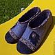 """Обувь ручной работы. Ярмарка Мастеров - ручная работа. Купить Туфельки  """"Листик фиолетовый"""". Handmade. Тёмно-фиолетовый, натуральная замша"""