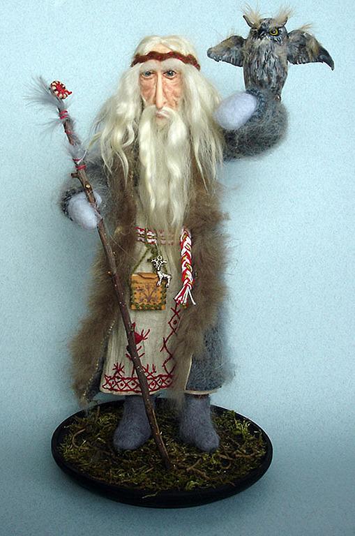 Коллекционные куклы ручной работы. Ярмарка Мастеров - ручная работа. Купить Мудрый Волхв. Handmade. Волхв, подарок директору, трессы