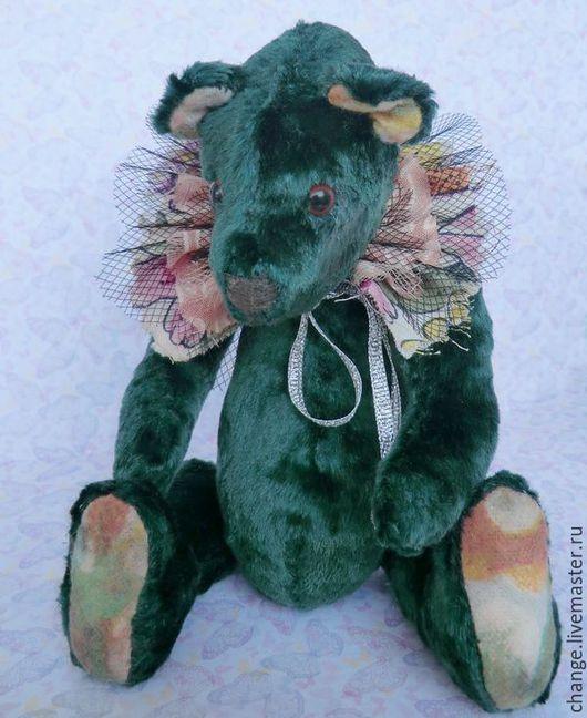 Мишки Тедди ручной работы. Ярмарка Мастеров - ручная работа. Купить Бродячий цирк. Мишка.. Handmade. Тёмно-зелёный
