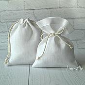 Свадебный салон handmade. Livemaster - original item Bags, linen white. Handmade.