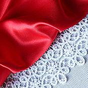 Работы для детей, ручной работы. Ярмарка Мастеров - ручная работа Платье Красное с кружевом  детское нарядное. Handmade.