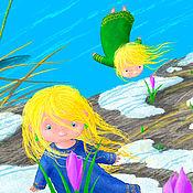 Картины ручной работы. Ярмарка Мастеров - ручная работа Вот и весна! Авторский принт, картина для календаря 2020 года. Handmade.