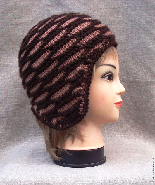 Шапки ручной работы. Ярмарка Мастеров - ручная работа. Купить Вязаная шапочка. Handmade. Комбинированный, головной убор для женщин