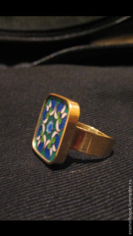 """Кольца ручной работы. Ярмарка Мастеров - ручная работа. Купить Кольцо """"Фрактал"""". Handmade. Разноцветный, рыжий, синий"""