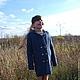 пальто, пальто вязаное, пальто ручной работы, пальто для девочки,  шерсть, чистая шерсть