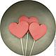 Кулинарные сувениры ручной работы. Ярмарка Мастеров - ручная работа. Купить Сердца на палочке. Handmade. Фотобутафория, бутафория, пряничные игрушки