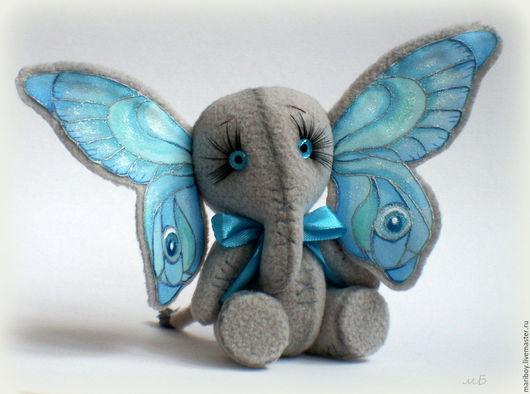 Игрушки животные, ручной работы. Ярмарка Мастеров - ручная работа. Купить Мятно-голубая слонобабочка. Handmade. Голубой, оригинальный подарок