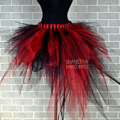 Одежда handmade. Livemaster - original item Tutu skirt with train made of tulle Raspberry. Handmade.