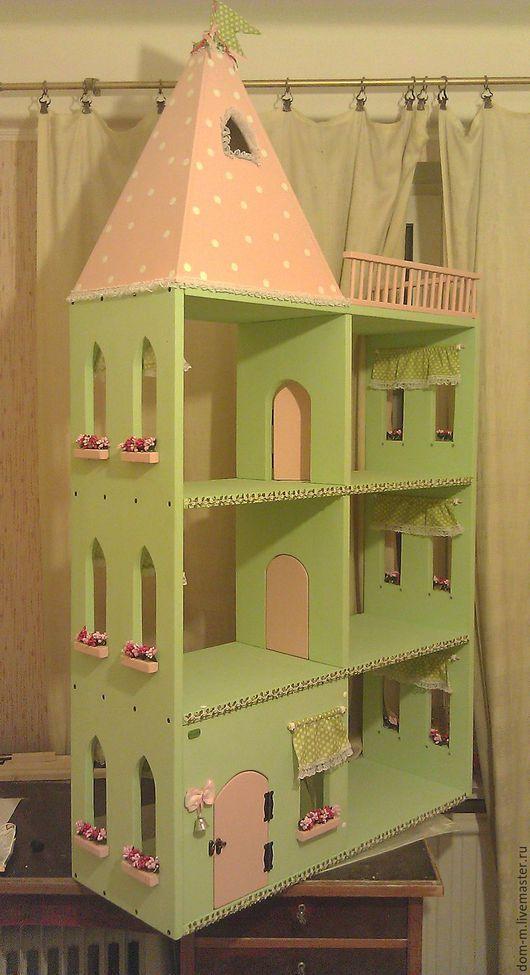 Детская ручной работы. Ярмарка Мастеров - ручная работа. Купить кукольный домик. Handmade. Комбинированный, мебель для девочки, сосна дерево