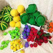 Игровые наборы ручной работы. Ярмарка Мастеров - ручная работа Овощи и фрукты. Handmade.