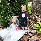 Свадебные букеты ручной работы. Ярмарка Мастеров - ручная работа Свадебные букеты: Свадебные игрушки Свадебные мишки. Handmade.