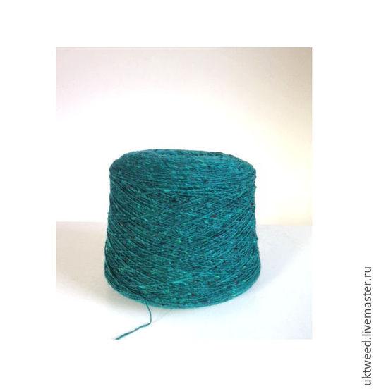 Вязание ручной работы. Ярмарка Мастеров - ручная работа. Купить Soft Donegal Tweed -100% меринос. Handmade. Морская волна