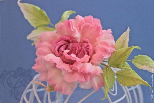 """Броши ручной работы. Ярмарка Мастеров - ручная работа. Купить Роза """"Scintillio"""". Натуральный шелк.. Handmade. Розовый, брошь-цветок"""