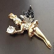 Материалы для творчества handmade. Livemaster - original item Pendant art. 7-2 Fairy with black crystals. Italy. Handmade.