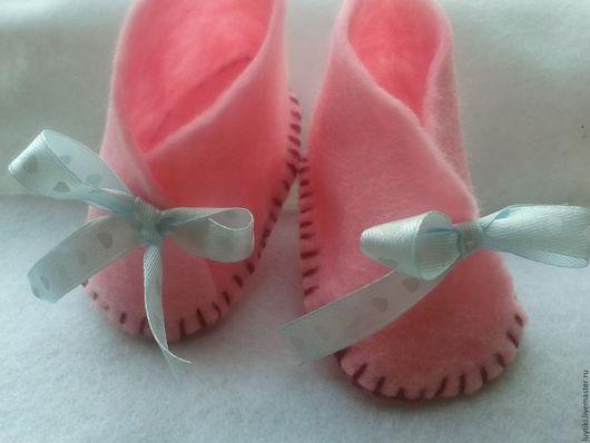 Детская обувь ручной работы. Ярмарка Мастеров - ручная работа. Купить Детские тапочки-кимоно.. Handmade. Розовый, домашние носки