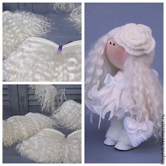 Куклы и игрушки ручной работы. Ярмарка Мастеров - ручная работа. Купить Натуральные кудряшки козы на шкурке. Handmade. Тильда, для кукол