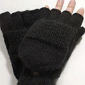 Аксессуары handmade. Livemaster - original item Transformer mittens black S,L. Handmade.