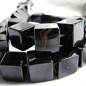 Материалы для творчества handmade. Livemaster - original item Black agate cubes. Handmade.