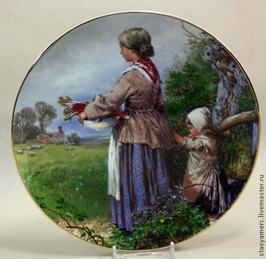 Винтажная посуда. Ярмарка Мастеров - ручная работа. Купить Коллекционная  фарфоровая тарелка .. Handmade. Тарелка, коллекция, фарфор