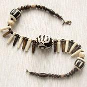 """Украшения handmade. Livemaster - original item Бусы короткие из кости """"Этно-4"""" в этническом стиле. Handmade."""