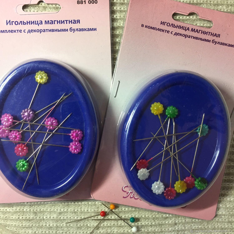 Игольница магнитная с декоративными булавками, Игольницы, Москва,  Фото №1