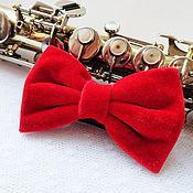 Аксессуары handmade. Livemaster - original item Tie Red velvet Large. Handmade.