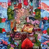 """Картины и панно ручной работы. Ярмарка Мастеров - ручная работа картина """"Груша в сиропе"""" (красная серия). Handmade."""