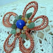 Украшения handmade. Livemaster - original item Brooch made of copper wire